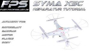 SYMA X5C zerlegen und reparieren