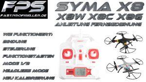 SYMA X8W Anleitung für die Fernbedienung